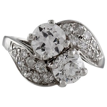 Platinum Diamond Bypass Ring