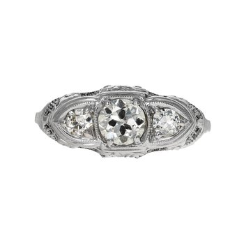 1920's Diamond Filigree Ring