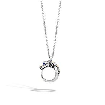 Naga Brushed Pendant Necklace