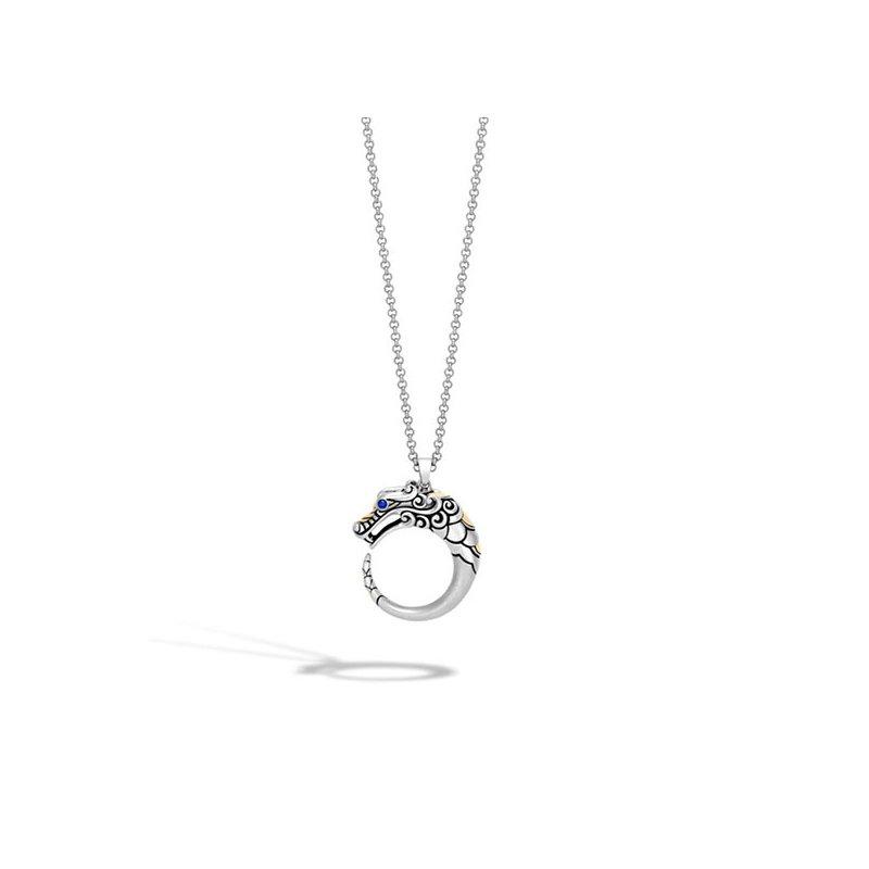 John Hardy Naga Brushed Pendant Necklace