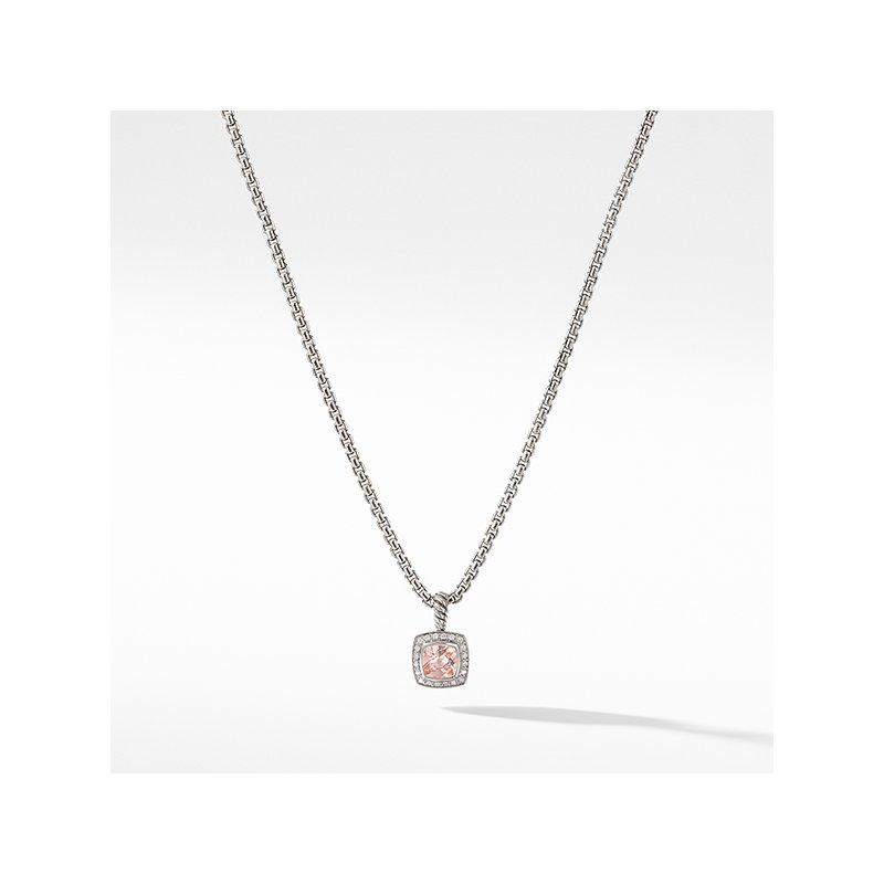 David Yurman Pendant Necklace with Morganite and Diamonds