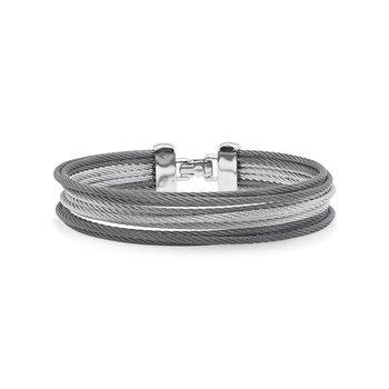 Grey & Steel Grey Cable Bracelet