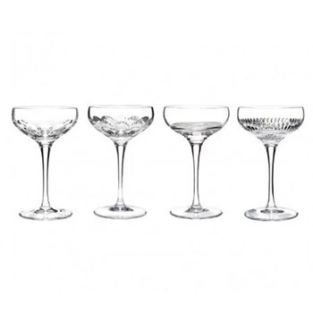 Mixology Assorted Clear Champagne Coupe, set of 4