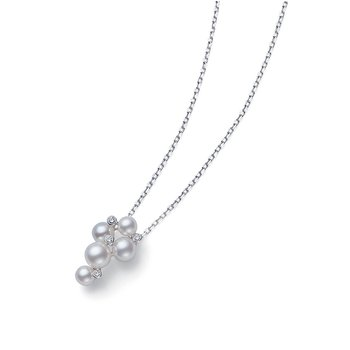 Pearl and Diamond Cluster Pendant