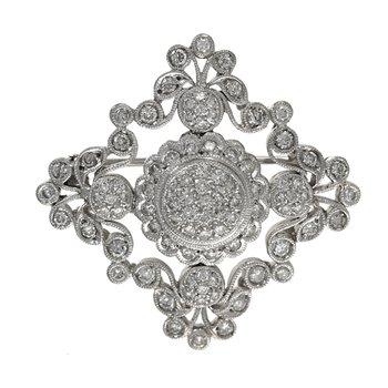 Decorative Diamond Brooch