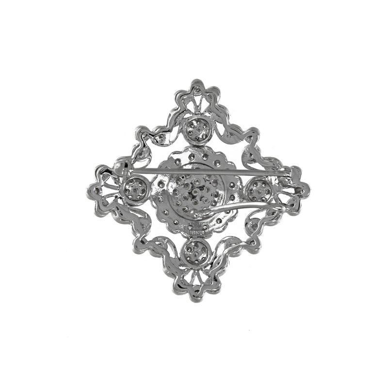 Estate Radcliffe Decorative Diamond Brooch