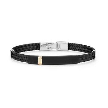 Men's Black Cable Bracelet