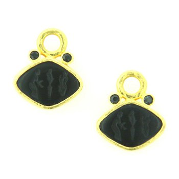 "Black ""Rombo"" Earring Pendants"