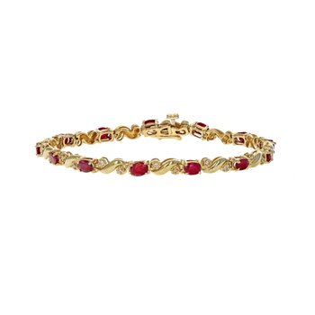 Diamond & Ruby Tennis Bracelet