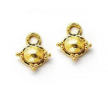 Gold Oval Earring Pendants