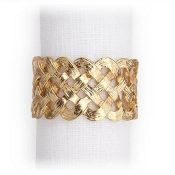 Braid Napkin Jewels (Gold)-Set of 4