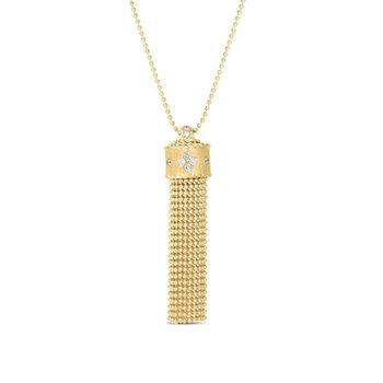 Princess Diamond Tassel Necklace