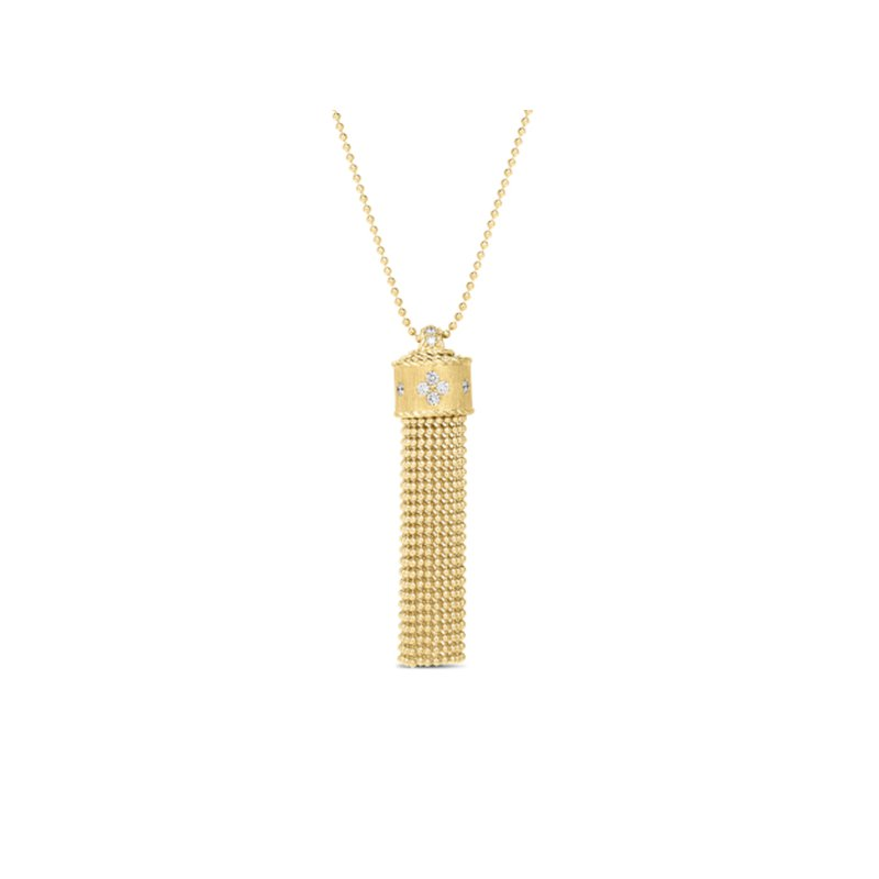Roberto Coin Princess Diamond Tassel Necklace