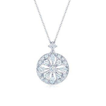 Kwiat Star Frame Pendant with Diamonds