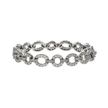 Diamond Round Link Bracelet