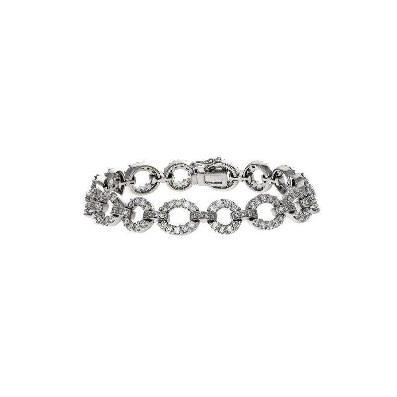 Estate Radcliffe Diamond Round Link Bracelet