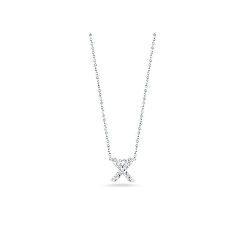 """Roberto Coin Diamond """"X"""" Pendant"""