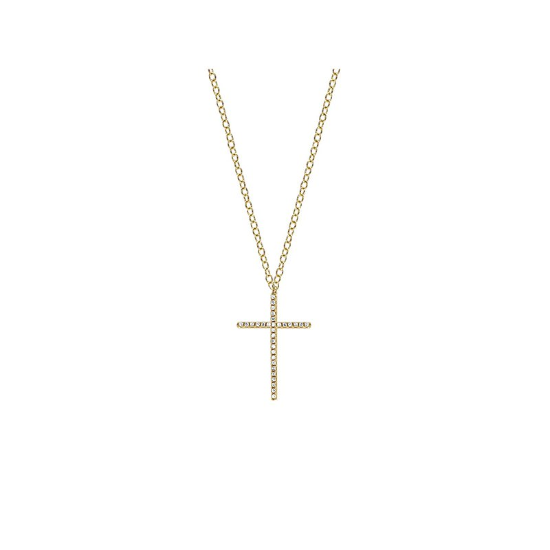 EF Collection Pave Diamond Cross Necklace