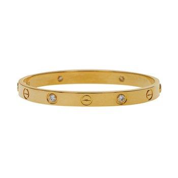 Estate 4 Diamond Love Bracelet