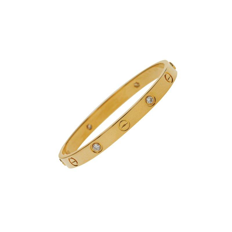 Estate Cartier Estate 4 Diamond Love Bracelet