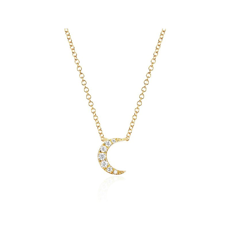 EF Collection Diamond Moon Choker Necklace