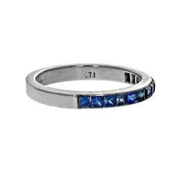 Quadrillion Cut Sapphire Band