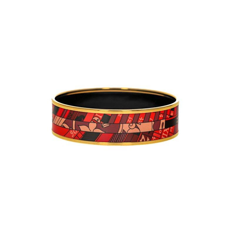 Hermes Wide Rouge Astrologie Nouvelle Bangle