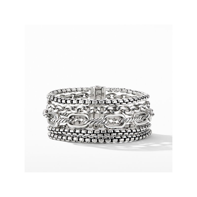 David Yurman Multi-Row Chain Bracelet