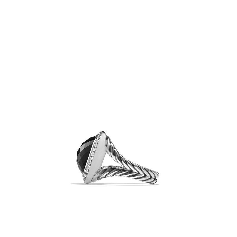 David Yurman Ring with Black Onyx and Diamonds