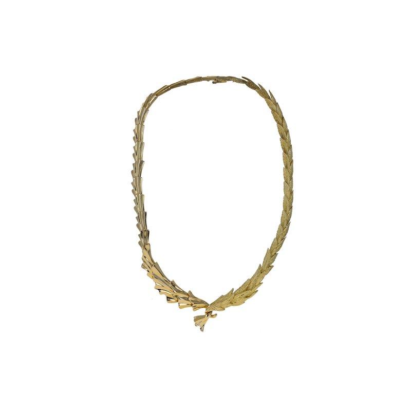 Estate Radcliffe Olive Branch Leaf Collar Necklace