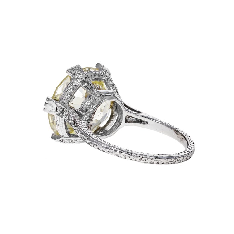 Estate Radcliffe Antique European Cut Diamond Ring