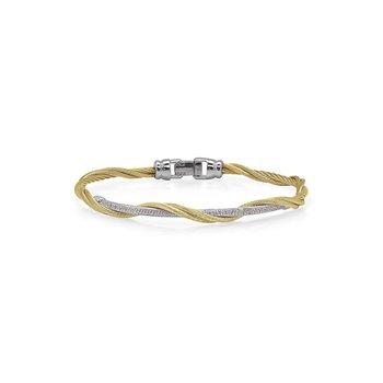 Yellow Cable Modern Twist Bracelet