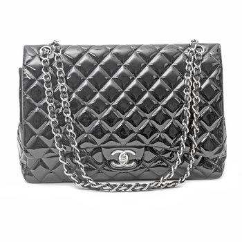 Patent Leather Maxi Classic Bag