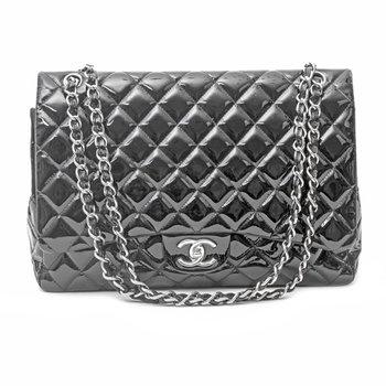 Patent Leather Maxi Classic Bag