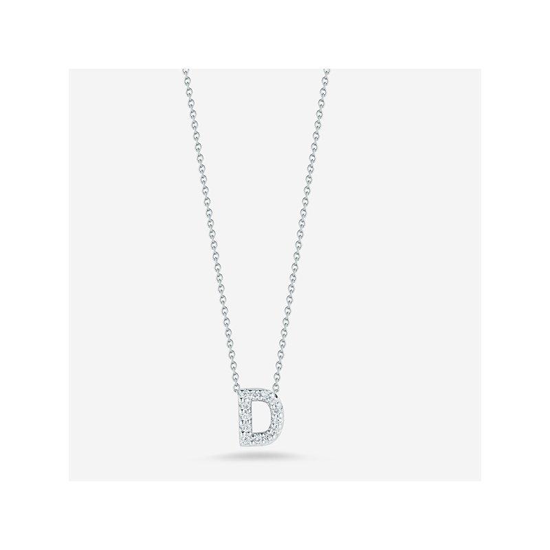 """Roberto Coin Diamond """"D"""" Pendant"""