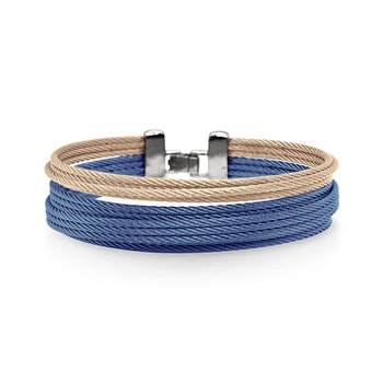 Blueberry & Carnation Cable Double Stack Bracelet