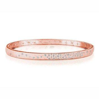 Galaxy Diamond Bangle Bracelet