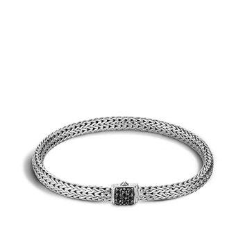 Classic Chain Bracelet with Balck Sapphire