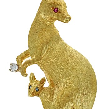 Kangaroo & Joey Pin