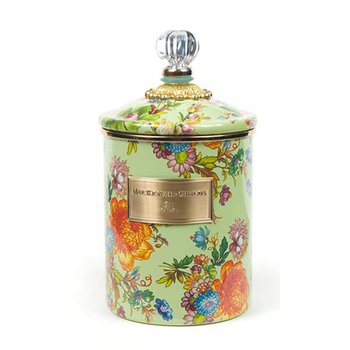 Flower Market Medium Canister, Green