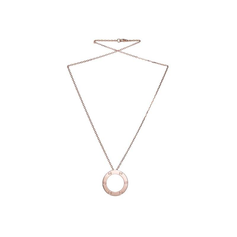 Estate Cartier Love Necklace