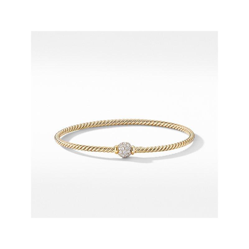 David Yurman Solari Center Station Bracelet in 18K Yellow Gold with Diamonds