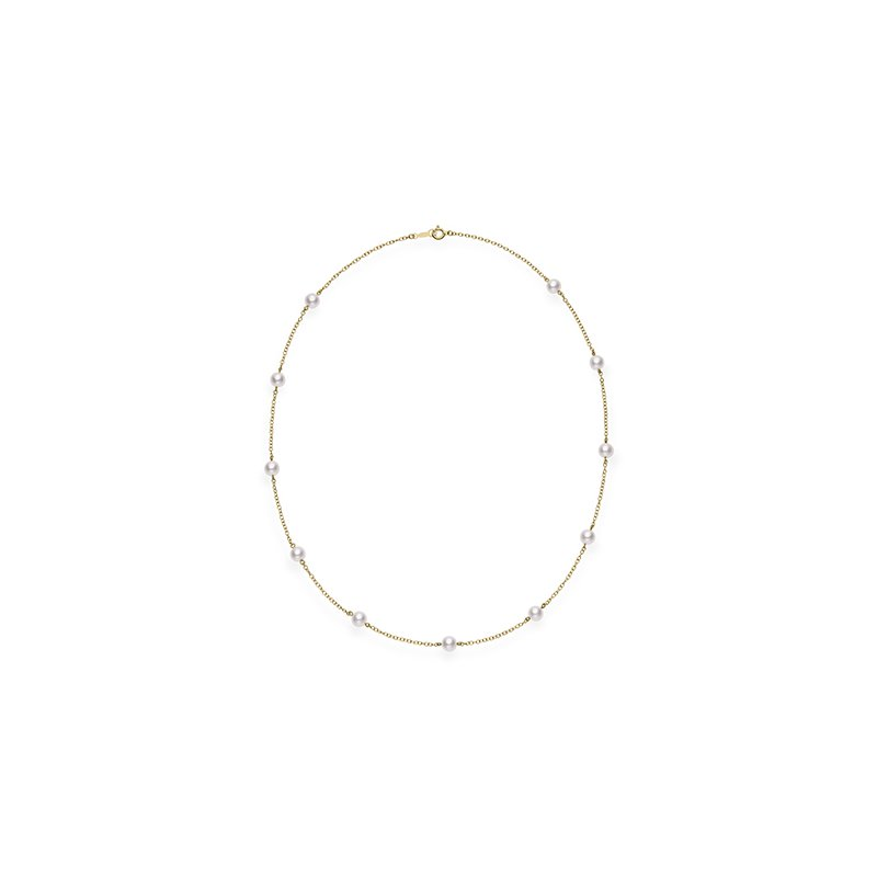 Mikimoto Akoya Pearl 'Tincup' Necklace