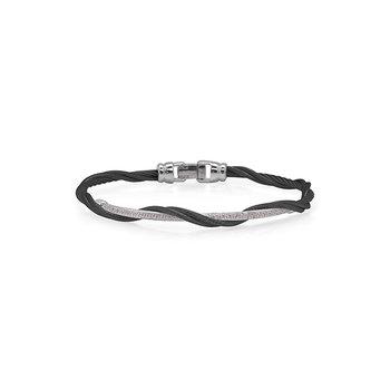Black Cable Modern Twist Bracelet