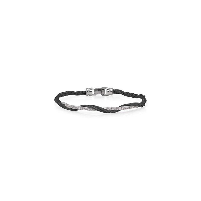 ALOR Black Cable Modern Twist Bracelet