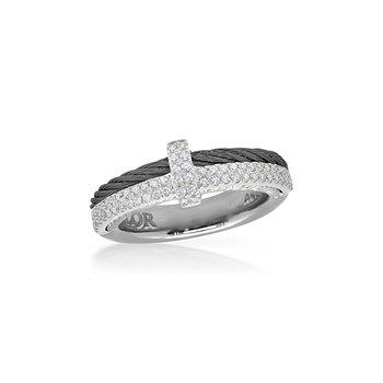 Black Cable Petite Opulence Ring