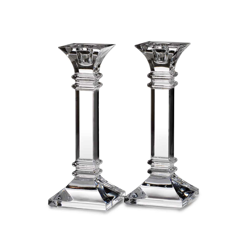 """Waterford Marquis Treviso 8"""" Candlestick, Pair"""