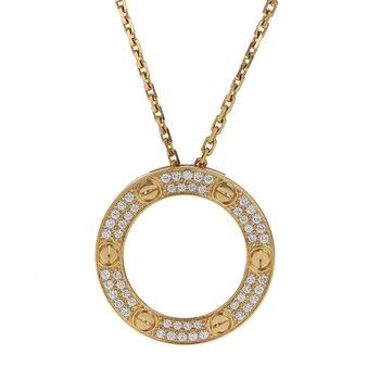 Pave Diamond Love Necklace