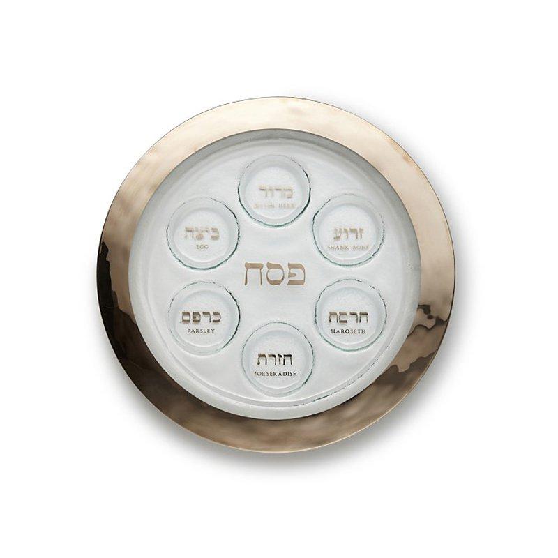Annieglass Platinum Seder Plate