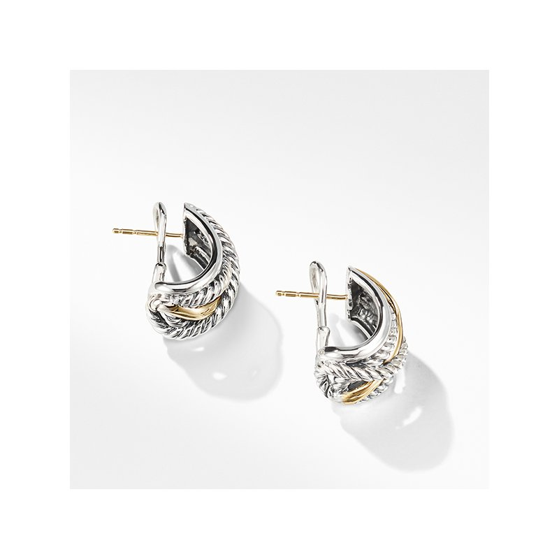 David Yurman Crossover Earrings with Gold